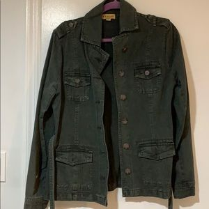 Charcoal dark grey casual belted jacket